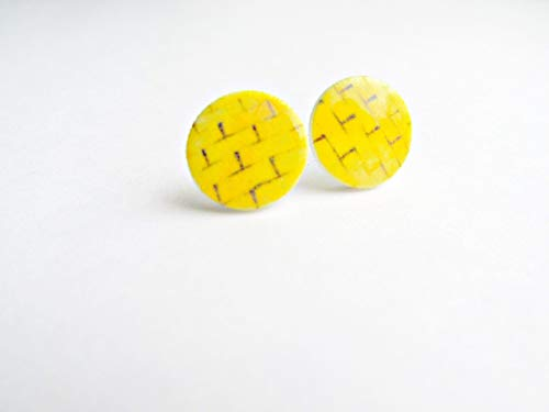 Yellow Brick Road Stud earrings, Dorothy and oz, ruby slippers ()