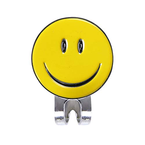 Golf Marker Smiley Face Golf Ball Markers with Magnetic Hat Clip Premium Durable Golf Marker Yellow
