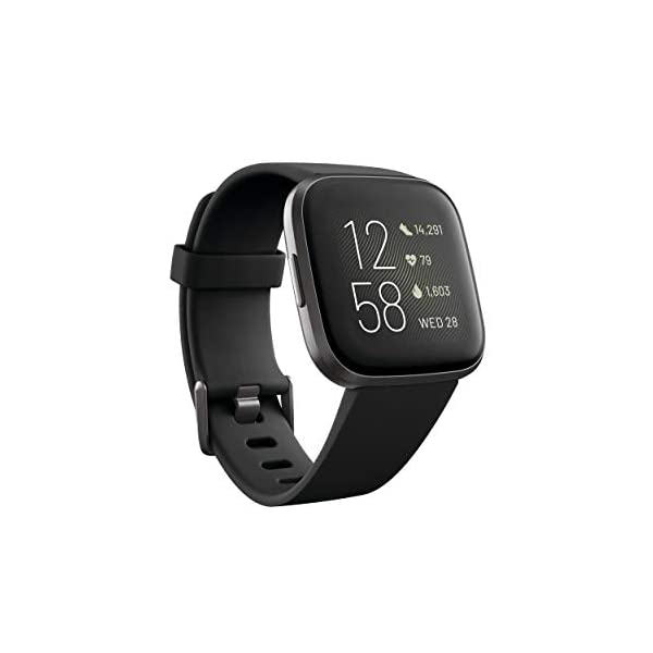 Fitbit Versa 2 Health and Fitness Smartwatch with Heart Rate, Music, Alexa Built-In, Sleep and Swim Tracking, Black