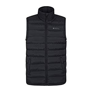 Mountain Warehouse Seasons Mens Padded Gilet – Water Resistant Gilet, Body Warmer, Lightweight Jacket, Easy to Store Coat – for Winter Travelling, Walking