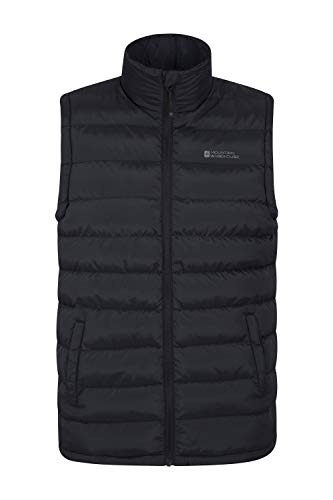Mountain Warehouse Seasons Gepolsterte Herren-Weste - Wasserbeständig, warm, leichte Jacke mit Zwei Fronttaschen, leicht zu verstauen - Ideal für Reisen im Winter