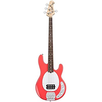 sterling by music man s u b series ray4 stingray bass fiesta red musical instruments. Black Bedroom Furniture Sets. Home Design Ideas