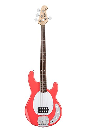 Sterling by Music Man StingRay Ray4 Bass Guitar in Fiesta Red