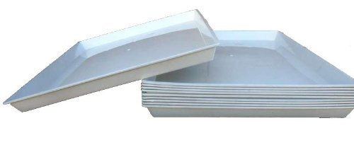 """Lot of 6 Replacement Seed Plastic Trays for 24""""x16""""x16"""" Bird"""