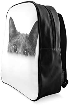 Close Up Monochrome Shot Of Dark Grey Cat With Big Womans Bookbag Girls Bags For School Fashion Bags For Girls Print Zipper Students Unisex Adult Teens Gift