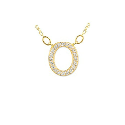 Yellow Gold Small Initial Pendant - 7