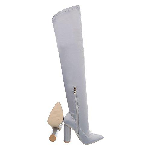 Clair Bottes Kitten Chaussures Jr Gris Cuissardes Femme Ital Bottines heel design 010 Et tavqaAn1W