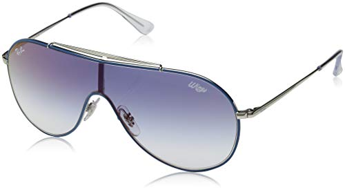 Ray-Ban Junior RJ9546S Wings Kids Sunglasses, Light Blue on Silver/Blue Gradient Mirror, 20 ()