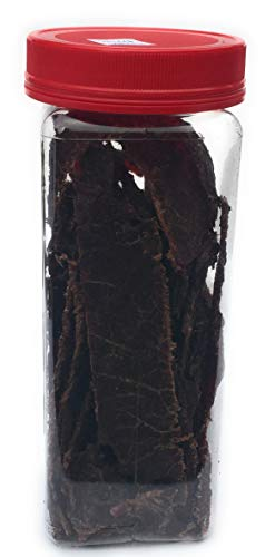 HARD TIMES 8oz Jar Original Real Beef Jerky Sliced Hand Trimmed Dry Tough Jerky For HardTimes by hard times (Image #4)