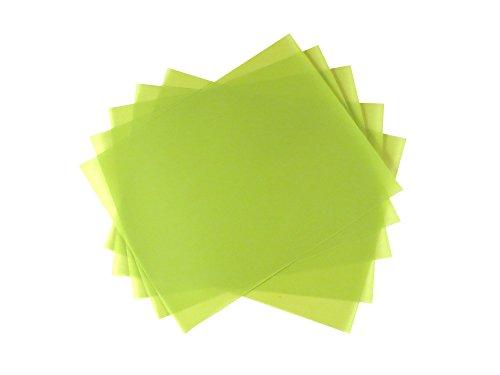 5 Sheet Bundle 1 Micron (14,000 Grit) PSA Lapping Microfinishing Film Aluminum Oxide (OA) 8 1/2