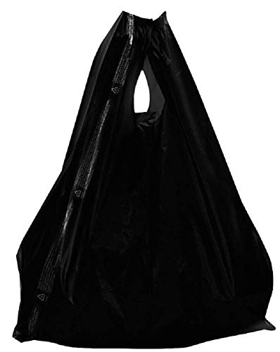 Plastic bags 11.5 x 6.5 x 22 Black T-shirt bags 11 1/2 x 6 1/2 x 22. Pack of 100 grocery bags with handles. Thickness 14 mic. Poly merchandise bags & Wholesale shopping bags. Mfg# 11x6x22. from Amiff