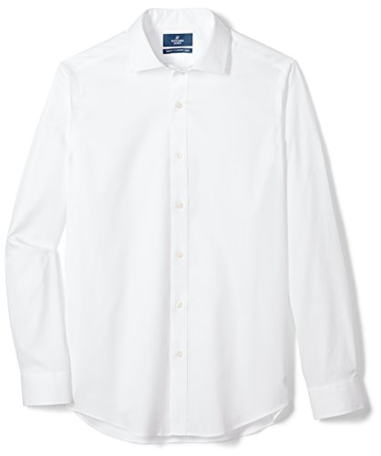 """BUTTONED Men's Tailored Fit Solid Dress Shirt , 16.5"""" Neck 35"""""""