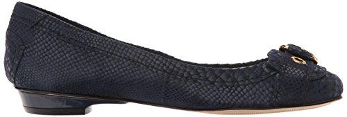 Anne Klein Dames Mady Reptiel Loafer Platte Marine