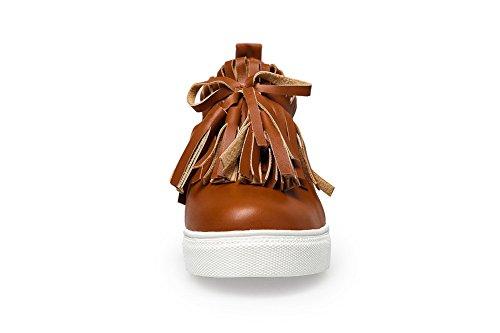 Scarpe Da Ginnastica Balamasa Slip-on In Tinta Unita In Poliestere Solido-scarpe Marrone