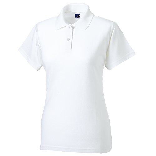 Manica Donna Cotone Russell Corta Bianco Polo 100 XTx55Iq