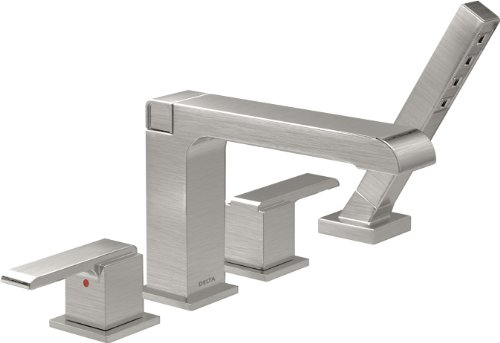 Delta Faucet T4767-SS Roman Tub Trim with Hand Shower, Stainless ()