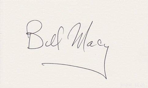 Bill Macy Signed - Autographed 3x5 inch Card - Guaranteed to pass - Actor - JSA Certified - Autographed NFL Photos