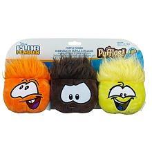 Club Penguin Puffle Flush 3-Pack Orange, Black, and Yellow (Flush Teddy Bear)