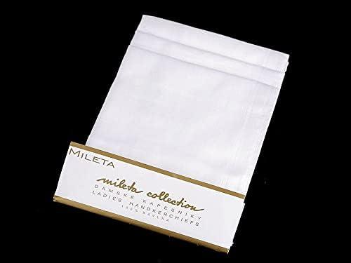 6pc White Ladies Handkerchief, Women Children Handkerchiefs, Fashion Accessories, 3 White