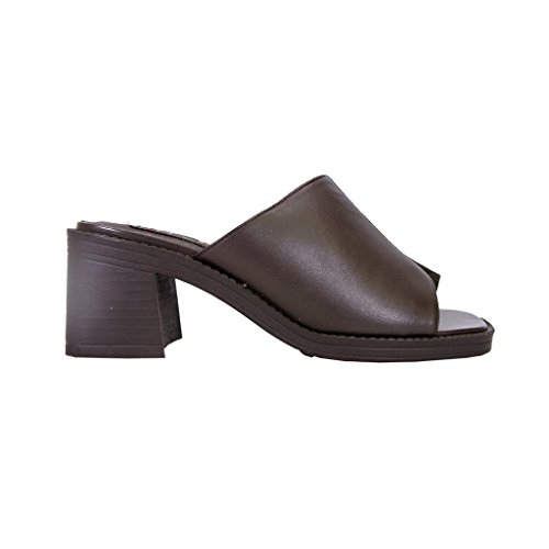 Marrón tacón mujer con superior diseño anchas para la Peerage de rayas parte de Sandalias en de Adeline piel tqx0nwgTU1