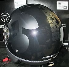 MOMO CASCO DESIGN MODELO FIGHTER PACHA NEGRO LUC./DEC. TG ML NEGRO MATE