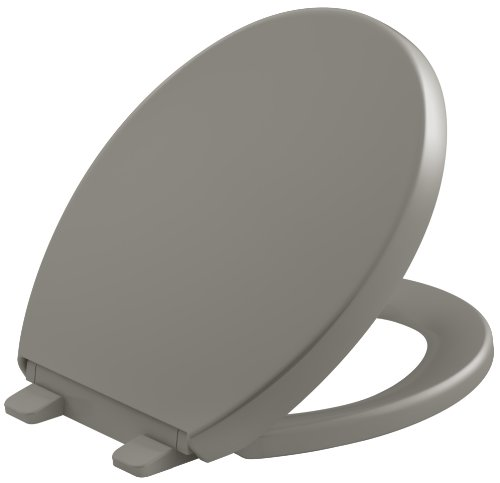 Fixture Cashmere (KOHLER K-4009-K4 Reveal Quiet-Close with Grip-Tight Bumpers Round-front Toilet Seat, Cashmere)