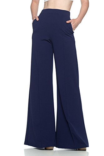 - Cemi Ceri Women's J2 Love Flowing Palazzo Pants, Small, Navy