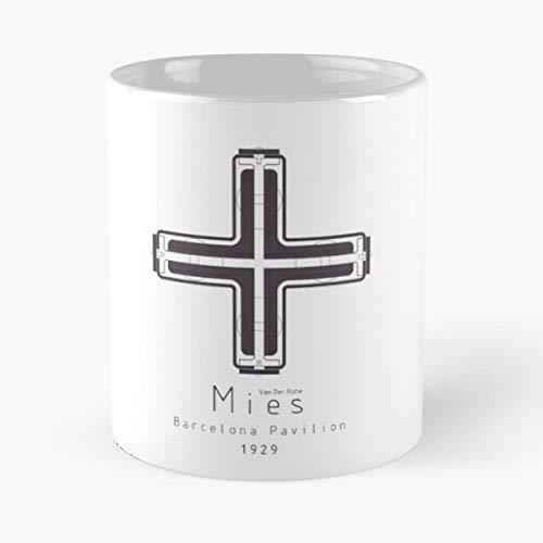 Barcelona Pavilion Mies Van Der Rohe Architecture Best Gift Coffee Mugs 11 Oz