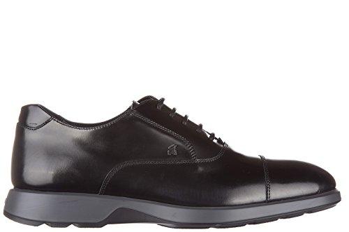 Hogan scarpe stringate classiche uomo in pelle nuove dress x oxford nero