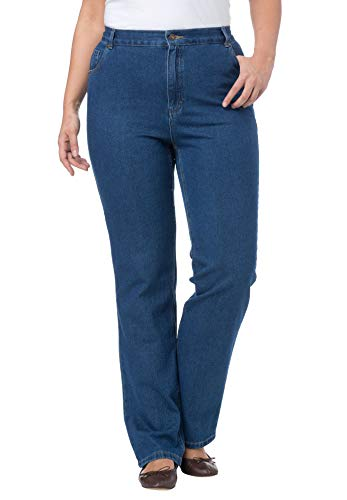 Woman Within Plus Size Tall Cotton Straight Leg Relaxed Fit Jean