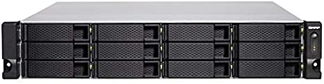 QNAP TS-1277XU-RP Ethernet Bastidor (2U) Negro NAS - Unidad Raid ...
