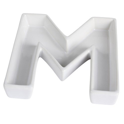 Ivy Lane Design Ceramic Greek Alphabet Dish, Mu