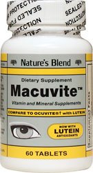 Nature's Blend Macuvite with Lutein 60 Tabs