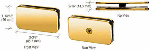 - CRL Brass 180 Degree Junior Traditional Style Fixed Glass Clamp for 1/4 Glass