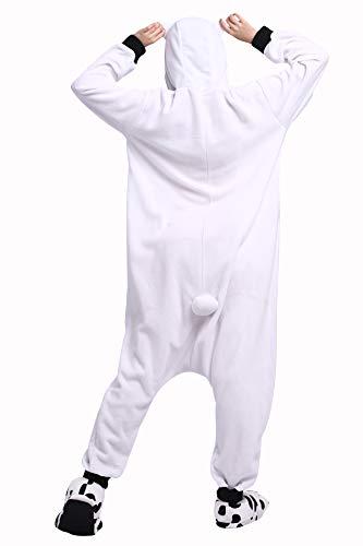 Lavatore Procione Kigurumi Bianco Cosplay da Cartoni Adulti Animale Animati Pigiama Unisex UxAwHIn