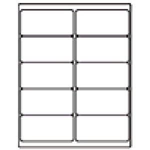 100 Sheet Pack 1000 Labels Total Standard Address Labels 4x2 Use with Word 5163, 5263, 5523, 5923, 5963, 5978, 8163, 8463, 8663, 8763 Laser Inkjet