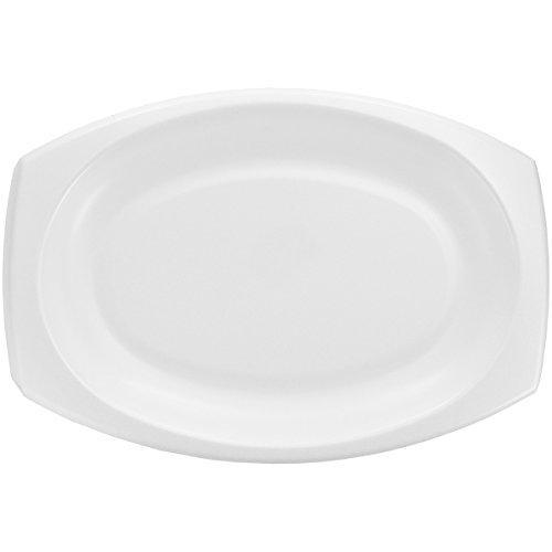 Dart 11PRWQRS 11 in White Laminated Foam Platter (Case of 500) ()