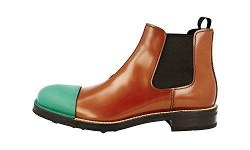 Prada Leather Boot Spazzolato 055 2TG098 F0SIT Brushed Men's Half rwnq8YfxrU