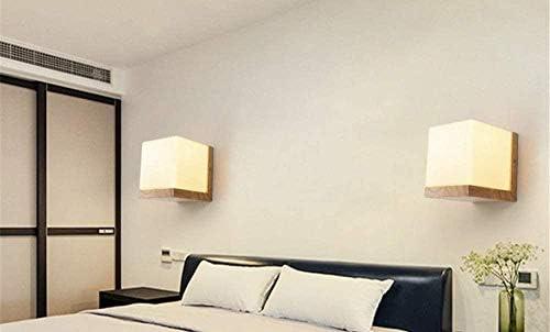 XZHKSP Lampada a Muro Nordic camera da letto creativa soggiorno corridoio lampada da parete in legno lampada da parete retrò senza ombra di luce