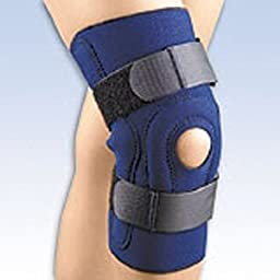 Fla 37-1043LNVY Safe-T-Sport Hinged Stabilizing Knee Stabilizing Brace, Navy, XXXL