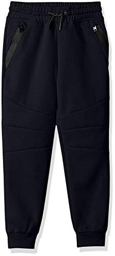 Navy Fleece Gym Pants - 7