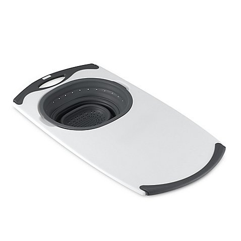 Popware Over-the-Sink Collapsible Strainer Cutting Board ...