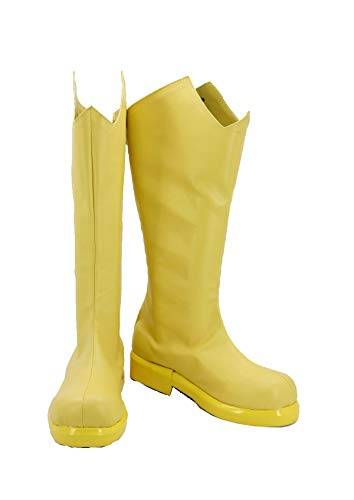 Allten Womens Wasp Janet Yellow Middle Boots Shoes Halloween Cosplay Costume (8.5 M US Female)]()