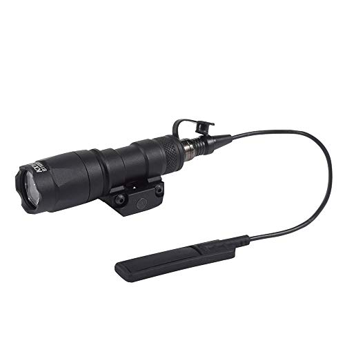 (FARMSOLDIER M300A Tactical LED Mini Scout Flashlight, Weaponlights Single Mode Hunting Light with Pressure Switch and Rifle Mount Black ...)