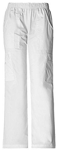 Cherokee Women's Classic Pull-On Pant Cargo Pant_White_Large Petite,4005P ()