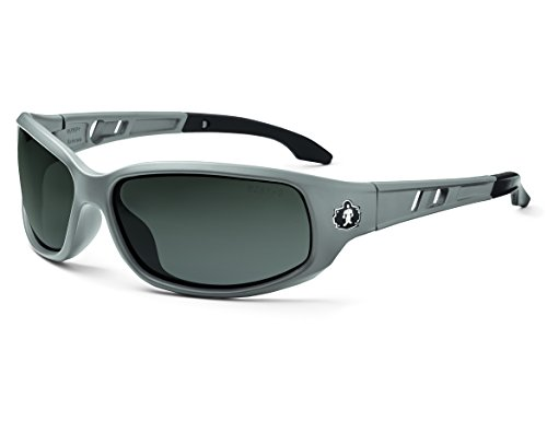 Skullerz Valkyrie Polarized Safety Sunglasses-Matte Gray Frame, Smoke - Polarized Sunglasses Nemesis