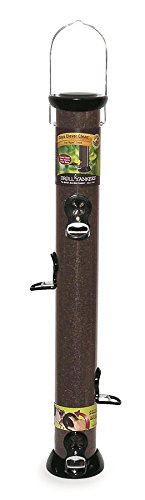 24-Inch Onyx Nyjer Tube Bird Feeder with Removable Base (Quick Clean Thistle Tube)
