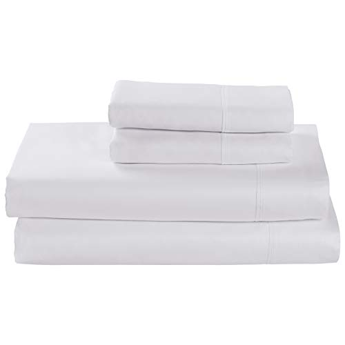 Rivet Cotton Tencel Sheet Set, Queen, White