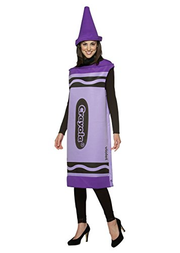 Crayola Purple Crayon Tunic, Small/Medium - Crayon Costumes For Adults