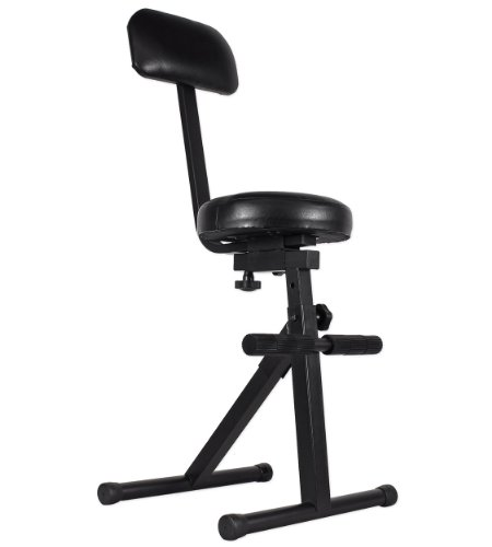 ProX Cases T-DJChair Portable DJ/Guitar/Drum/Keyboard Padded Throne With Five Adjustable Levels For Ultimate Comfort